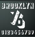 brooklyn numbers vintage t-shirt stamp vector image vector image