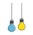 bulbs light hanging icon vector image vector image