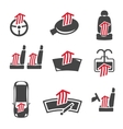 Car Heating System Set vector image vector image