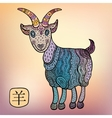 Chinese Zodiac Animal astrological sign goat vector image vector image