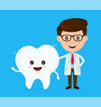 cute funny smiling dentist and healthy vector image