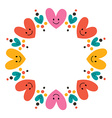 cute hearts frame 2 vector image vector image