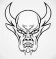 Devil Face Tattoo Design vector image