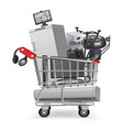 electronic in trolley 01 vector image vector image