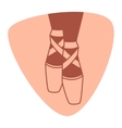 Emblem of dance studio with ballet pointe shoes vector image vector image