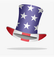 flag of usa on a hat vector image