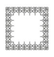 frame of decorative ornament silhouette on white vector image vector image
