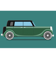 Green Vintage car vector image