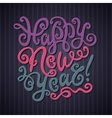 Happy New Year Greeting Card Decorative hand drawn vector image vector image