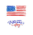 happy veterans day typography card modern black vector image vector image
