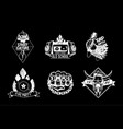 hip hop vintage icon set black and white rap vector image vector image