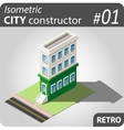 Isometric city constructor - 01 vector image vector image