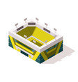 isometric sport arena exterior place for biggest vector image