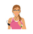 jogging girl cartoon vector image