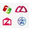 Letter z logo icon set vector image vector image