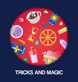 magic show tricks performance circus background vector image