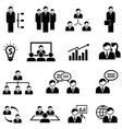 management and business web icon set vector image vector image