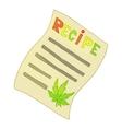 Medical prescription marijuana icon cartoon style vector image vector image