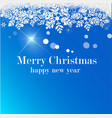 merry christmas beige background blur vector image vector image