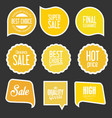 modern sale stickers and tags collection 10 vector image vector image