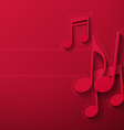 Music Notes on Maroon Background vector image vector image