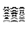 mustache silhouette isolated vector image vector image