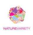 nature variety logo poster vector image vector image