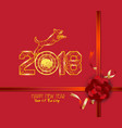new years 2018 polygonal line light background vector image vector image