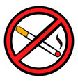 no smoking sign icon icon cartoon vector image
