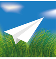 origami airplane vector image