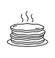 pancakes stack linear icon vector image vector image
