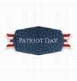 Patriot Day Text on Label with Ribbon vector image