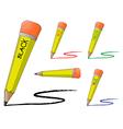 pencils vector image vector image