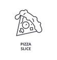 pizza slice line icon outline sign linear symbol vector image