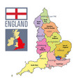Political map of england with regions