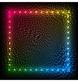 Rainbow colors glowing dots abstract frame vector image