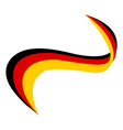 ribbon in color flag germany vector image vector image