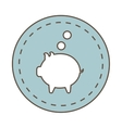 savings money symbol isolated icon vector image vector image