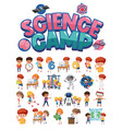 science camp logo and set children vector image vector image