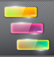 set of colorful glass banners for design dark vector image vector image