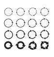 sets black circle arrows icons vector image vector image