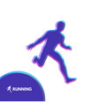 silhouette of a running man design for sport vector image