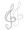 simple violin key on white background vector image vector image