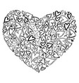 symbol heart of hearts scratched vector image vector image