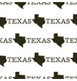 texas pattern with silhouette texas shapes and vector image vector image