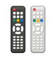 TV Remote Control in Black and White Design vector image vector image