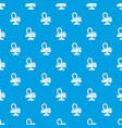 vacuum cleaner pattern seamless blue vector image vector image