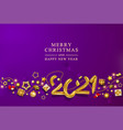 violet christmas banner holiday background vector image