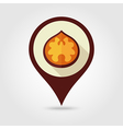 Walnut flat pin map icon Fruit Nut vector image vector image