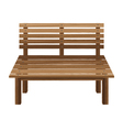 Wooden chairs on a white background Wooden Bench vector image vector image